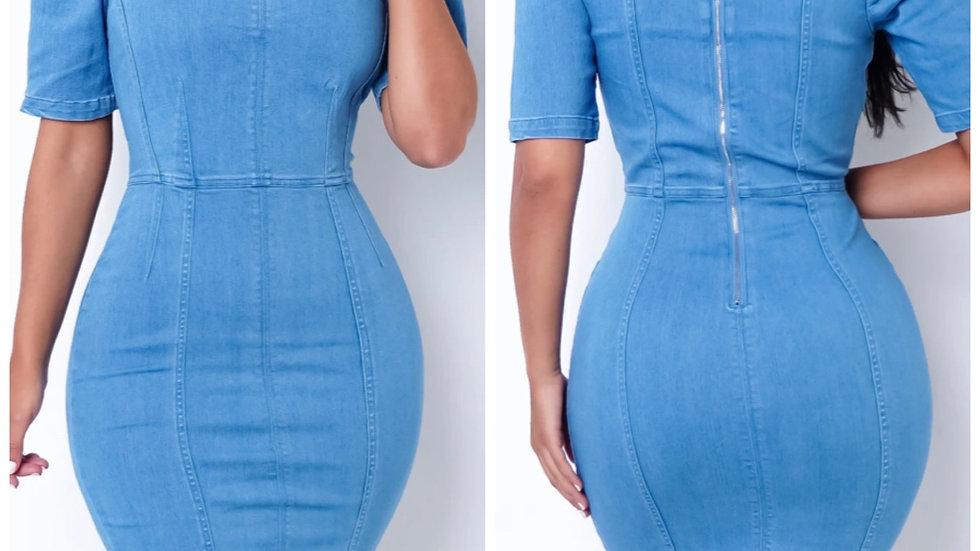 Basic But Fine Denim Dress