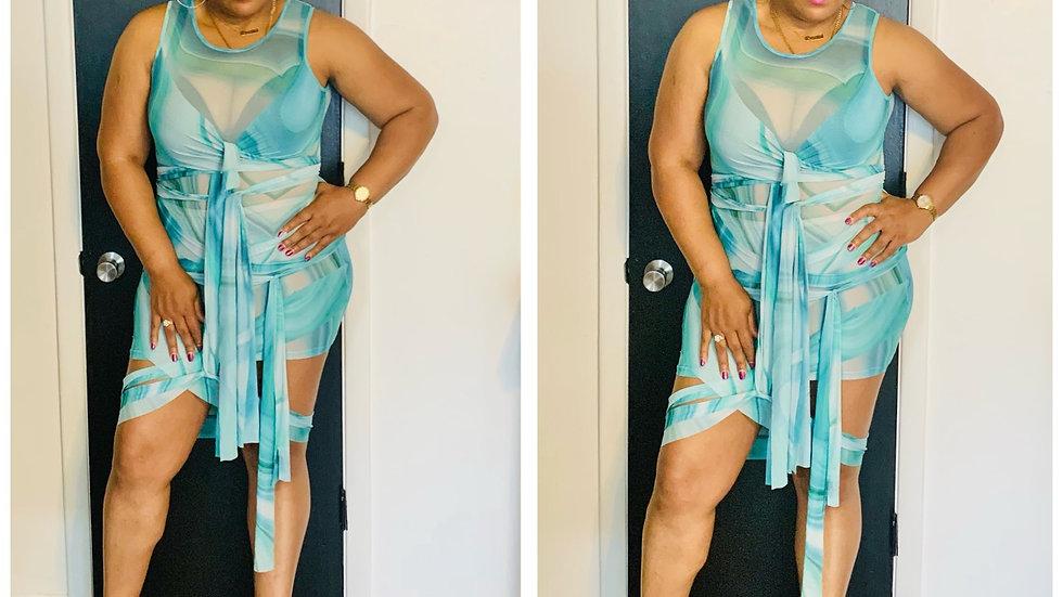 Wrapped Into Myself Mini Dress