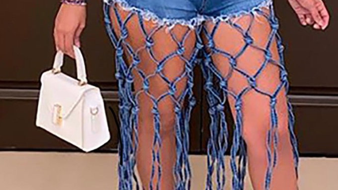 Walk It Out Denim Shorts