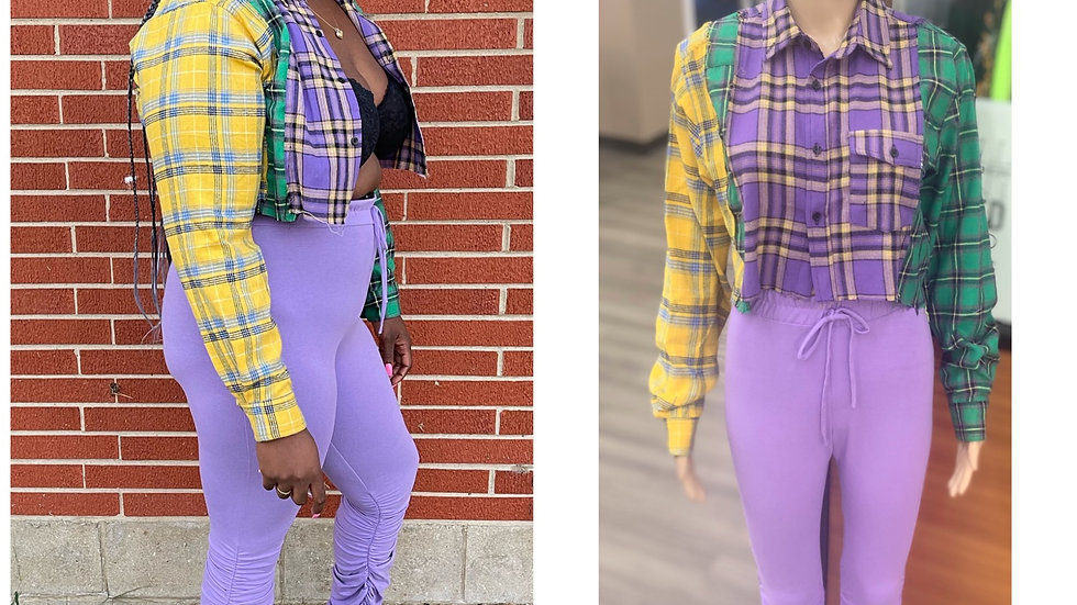 Plaid Power Cropped Top