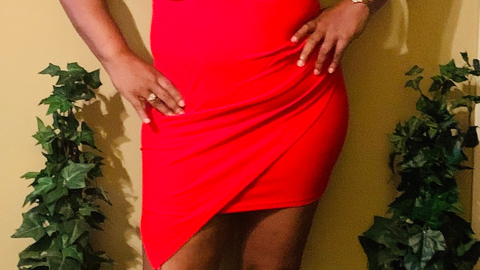 Tie Back Red Dress
