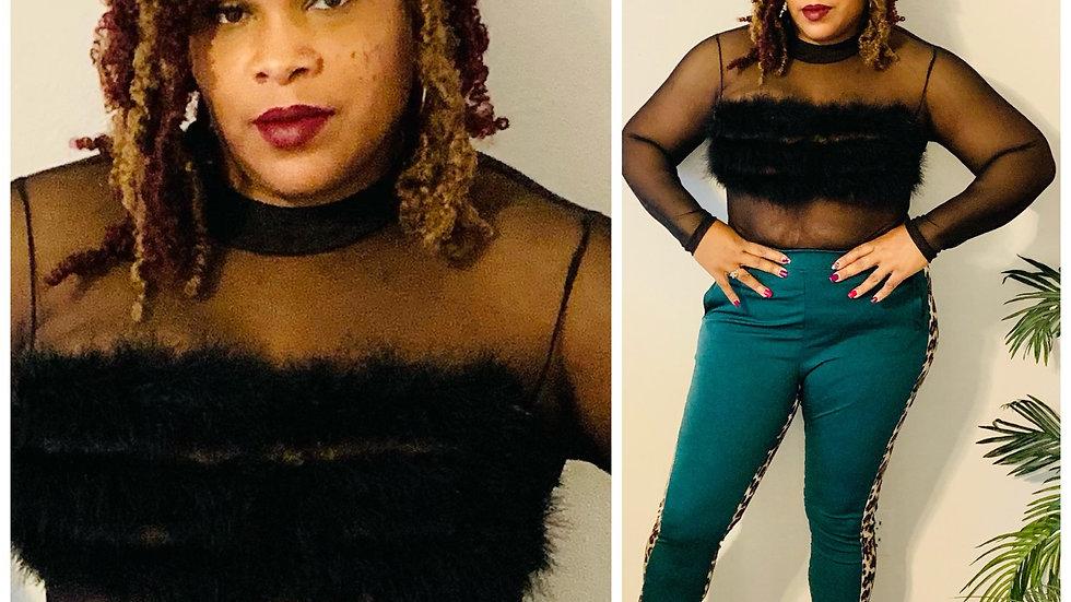 Fur Mami Sheer Body Suit