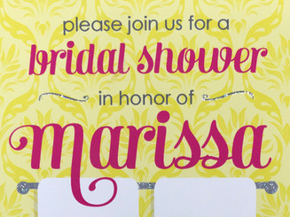 Glittery Bridal Shower invitation