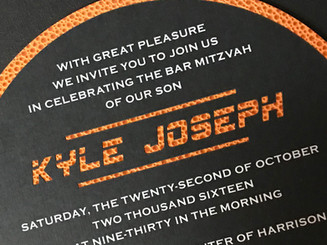 2 layer invitation with name cut out
