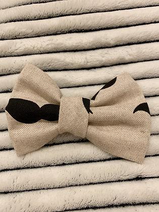 SALE Medium Bow - Canvas moustache