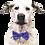 Thumbnail: Bluebell satin bow tie