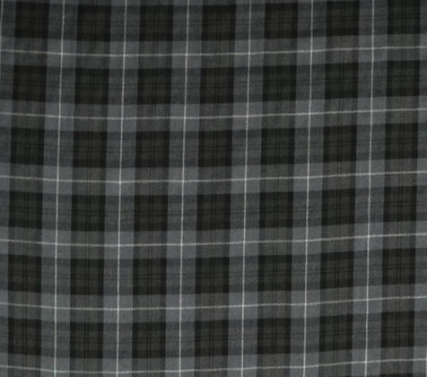 Grey plaid bow tie