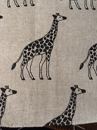 SALE Small Bow -canvas giraffe