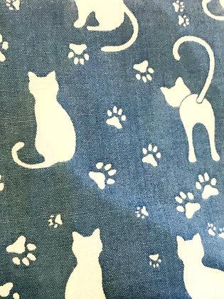 SALE Large Bow - Blue cat