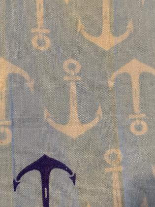 SALE - Blue anchor medium Over collar bandana