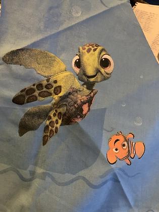"SALE - Nemo turtle L bandana up to 20"" neck"
