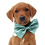 Thumbnail: Pale duckegg satin bow tie