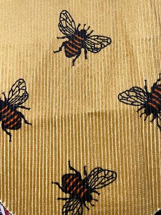 "SALE -  Bee cord  X-small Over collar bandana(1"" collar gap)"