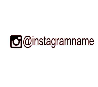 Instagram name vinyl bandana add on