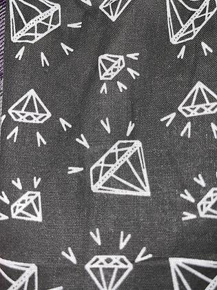 "SALE - Black diamond small Over collar bandana (1.2"" collar gap)"