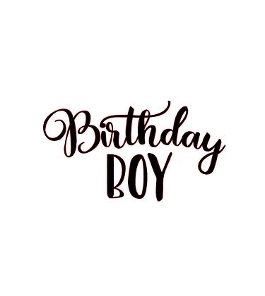 Birthday Boy vinyl bandana add on