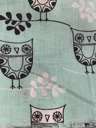 SALE Small Bow -Mint owl