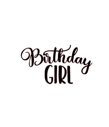 Birthday Girl vinyl bandana add on