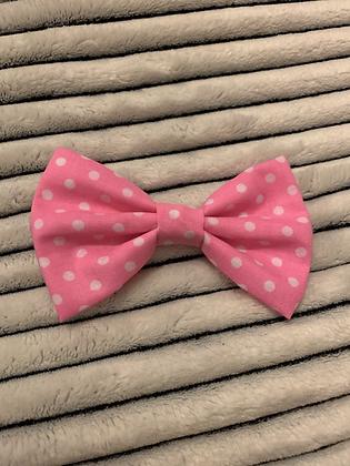 SALE Medium Bow - Pink spot