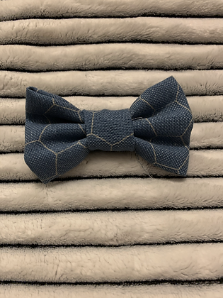 SALE Small Bow -Blue honeycomb