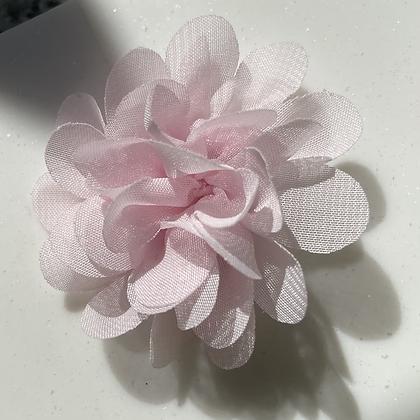 Mini Baby pink Flower elastic loop attachment