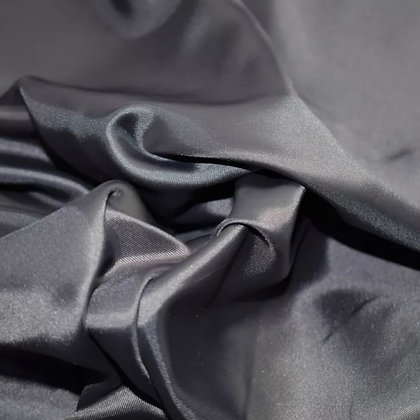 Gunmetal grey satin scrunchie