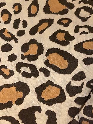 Brown leopard Face mask