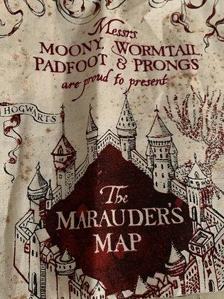 Marauders map bow tie