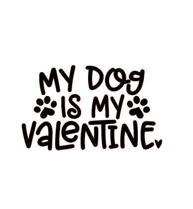 Dog is my valentine vinyl bandana add on