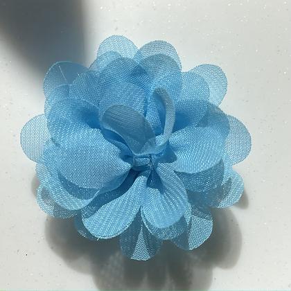 Mini pale blue Flower elastic loop attachment