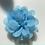 Thumbnail: Mini pale blue Flower elastic loop attachment