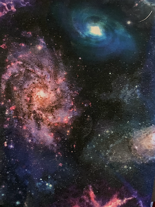 SALE - Galaxy medium Over collar bandana