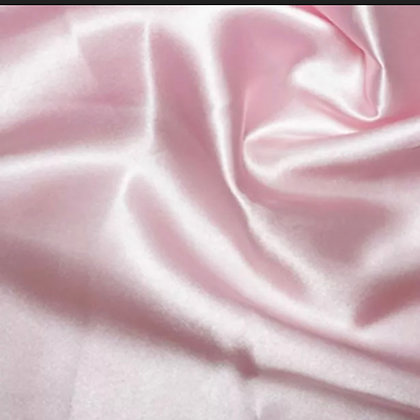 Baby pink satin scrunchie