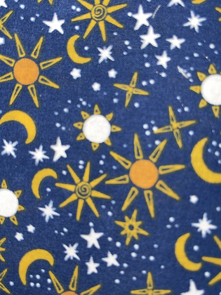 SALE Medium Bow - Blue sun and moon