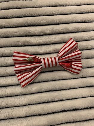 SALE Medium Bow - Strawberry stripe