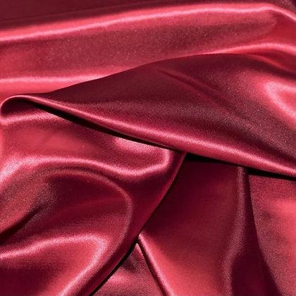 Red satin scrunchie