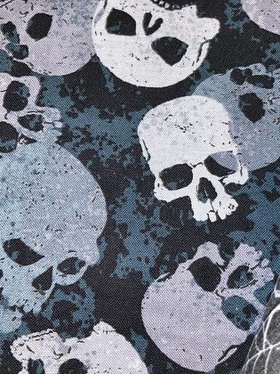 "SALE - Skulls small Over collar bandana (1.2"" collar gap)"