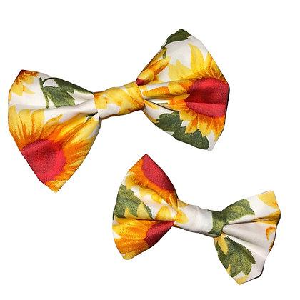Sunflower bow tie