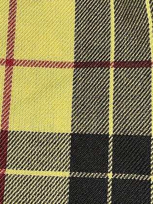 """SALE - XS Yellow check bandana up to 13.5"""" neck"""