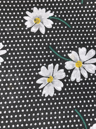 SALE Large Bow - Black flower