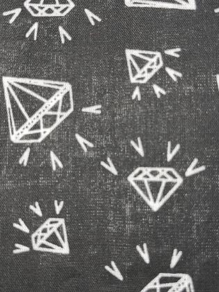 SALE Large Bow - Black diamond