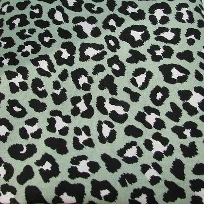 Green leopard bow tie