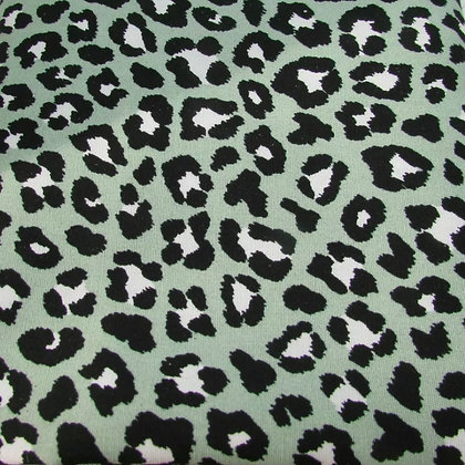 Green Leopard Face mask