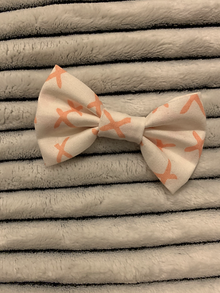 SALE Small Bow - Pink cross