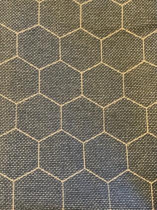 """SALE - Blue honeycomb M bandana up to 17"""" neck"""