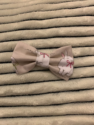 SALE Small Bow - Beige bunny