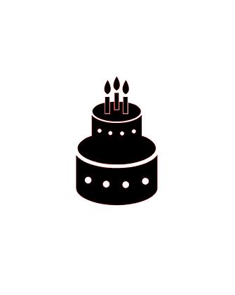 Birthday cake vinyl bandana add on
