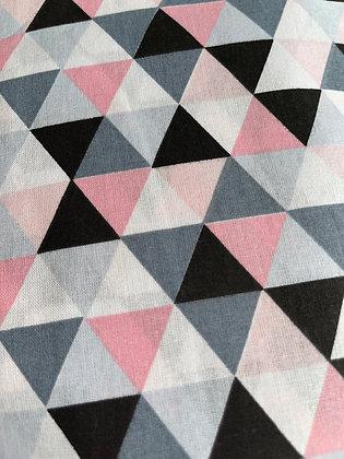Pink geometric bow tie