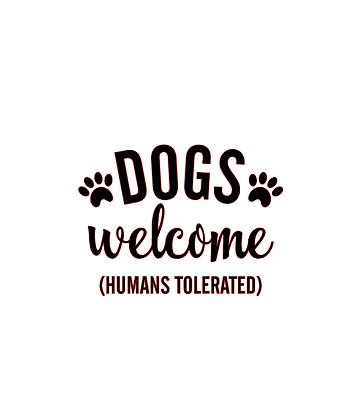 Dogs welcome vinyl bandana add on