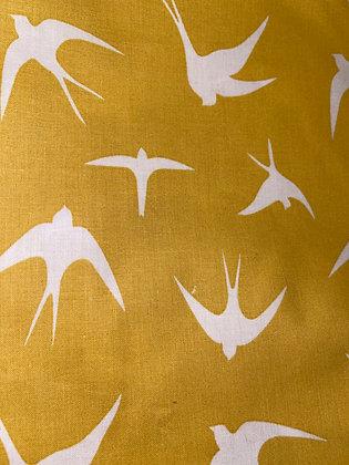 Yellow bird scrunchie